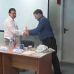 Борис Белодубровский благодарит лекторов за столь познавательный семинар