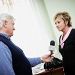 Дорит Голендер даёт интервью