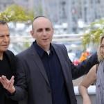 Israeli director Joseph Cedar (C) poses