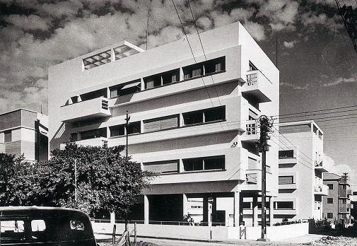 Здание в стиле баухаус в Тель-Авиве