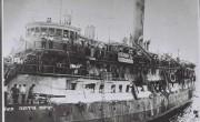 """Пароход """"Эксодус 1947"""" с """"нелегальными"""" иммигрантами в Хайфском порту, 1947 г."""