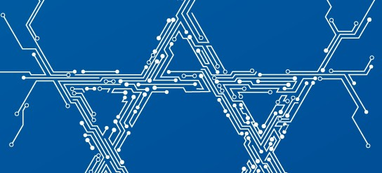 Микросхема в виде национального израильского символа - Маген-Давида.