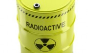 Toxic waste, radioactive barrel