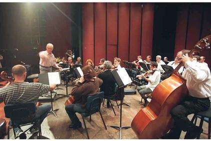 Репетиция филармонического оркестра Ришон ле-Циона, 2000 г.