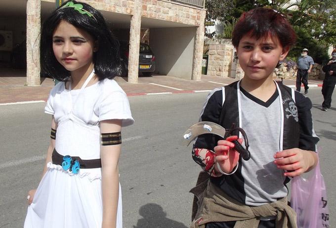 Пурим в поселке Хашмонаим