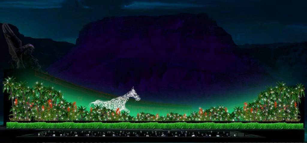 Макет декорации к опере «Кармина Бурана»