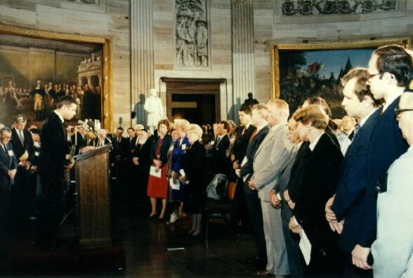 Церемония в ротонде Капитолия. Фото: Википедия
