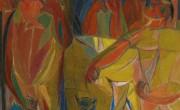 משה טמיר, מפגש של ארבעה ציירים, 1950