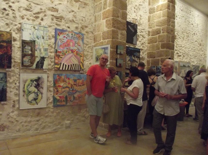 Выставка художников-репатриантов в галерее «Мигдалор» в Яффо