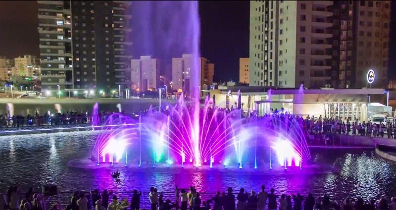 Музыкальный фонтан в Ашдоде