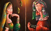 Zurab Martiashvili, Blue Jewelery (diptych)_ oil on canvas_70x50 cm_