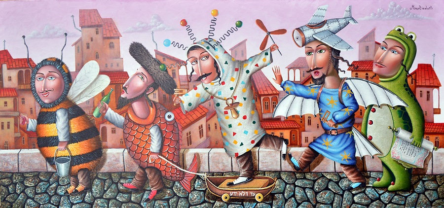 Zurab Martiashvili_ADLOYADA_oil on canvas__60x120