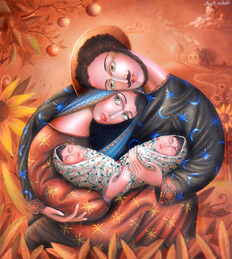 Zurab Martiashvili_Family_oil on canvas_100x80 cm_