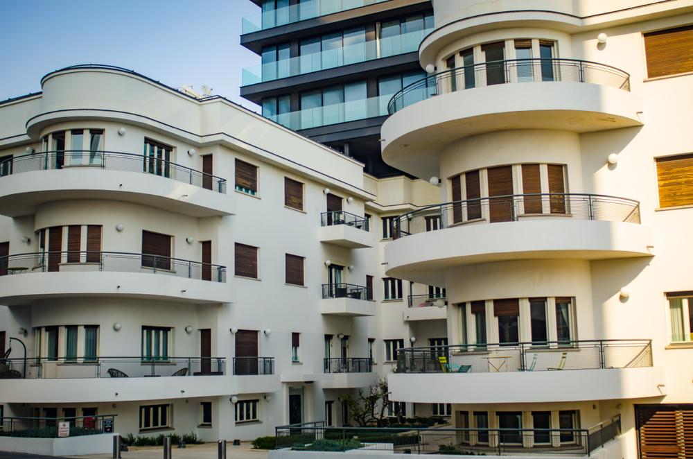 Здания в стиле баухаус в центре Тель-Авива