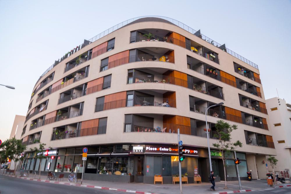 Современная постройка в стиле баухаус, Тель-Авив