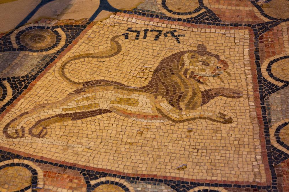 A lion at the Hammat Tiberias Synagogue