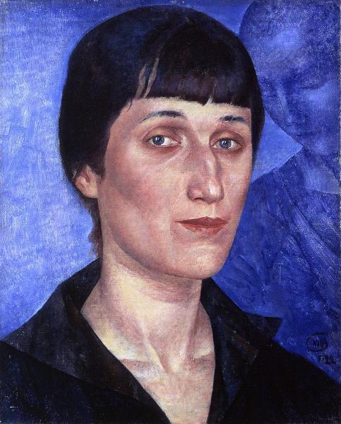 Кузьма Петров-Водкин. Портрет Анны Ахматовой (1922)