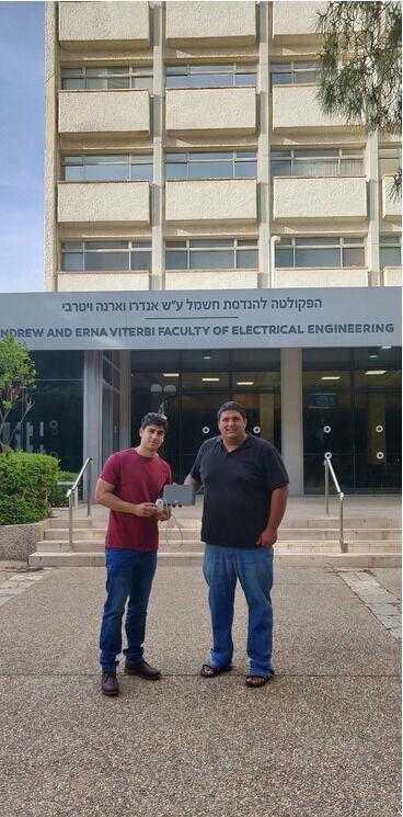 Адам Бархак и Асаф Ицхак. Фото: пресс-служба Техниона