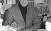 Autor Ephraim Kishon signiert in der Buchhandlung Cordes
